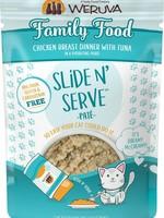 Weruva Cat Wet Classic SnS Pouch GF Pate Chicken & Tuna Family Food 2.8 oz single