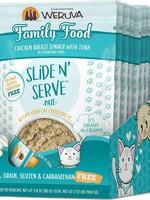 Weruva Cat Wet Classic SnS Pouch GF Pate Chicken & Tuna Family Food 2.8 oz 12/Tray