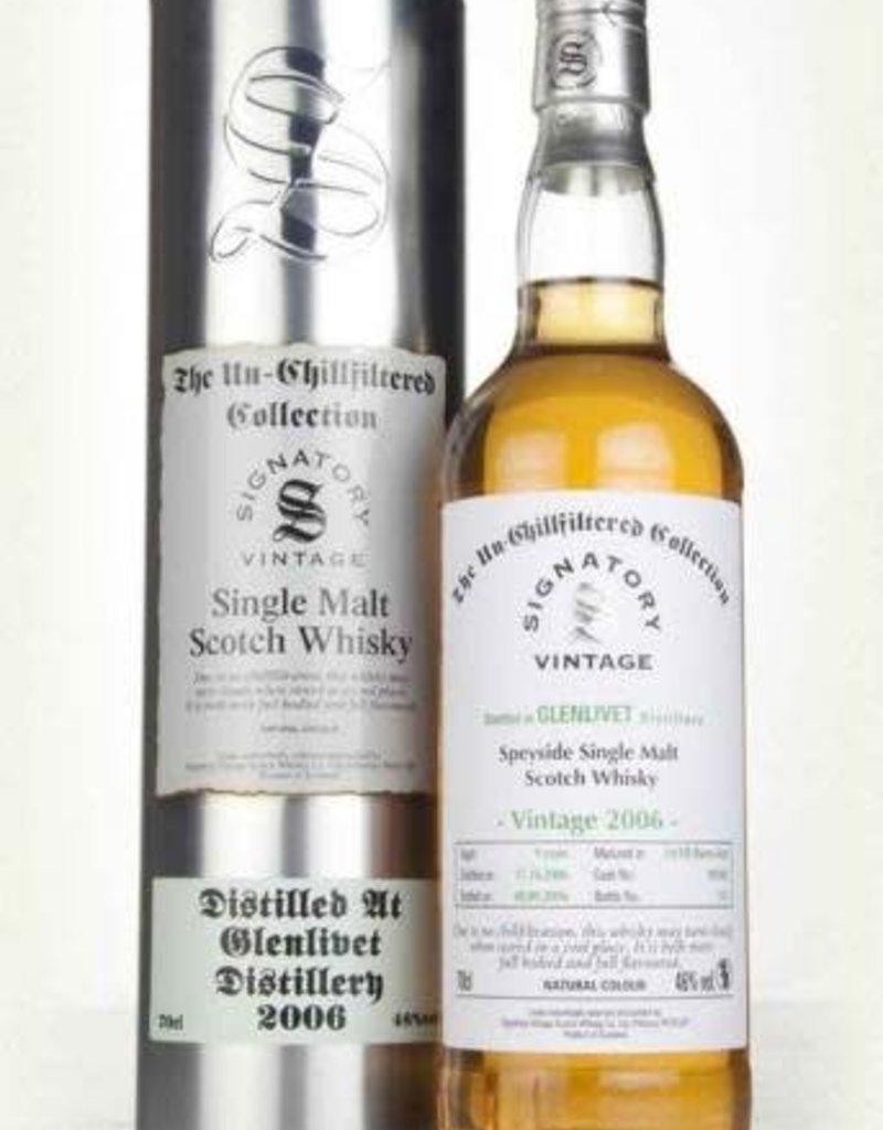Signatory Vintage  Scotch Whisky Co. Ltd. Signatory 2006 Glenlivet Speyside Un-chillfiltered Collection Single Malt Scotch 750ml