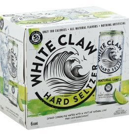 Whiteclaw Natural Lime Hard Seltzer 6 pack 12 oz