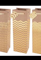 True Brands True Kraft & Gold Gift Bag