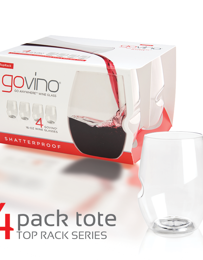 GoVino Govino Red Wine Glass DWS  4 pack 12 oz