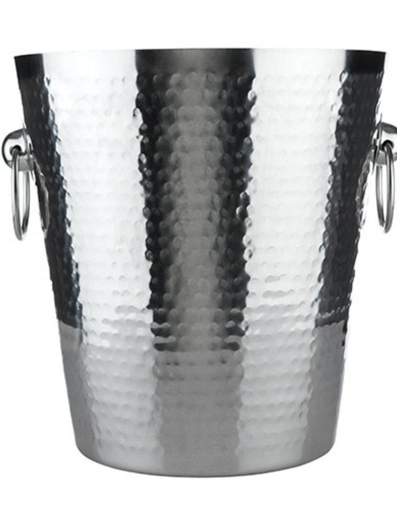 True Brands True Hammered Ice Bucket