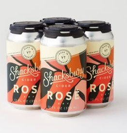 Shacksbury Shacksbury Rose Cider Cans 4 pack 12 oz