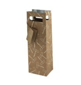 True Brands Cakewalk Foil Corkscrew Gift Bag