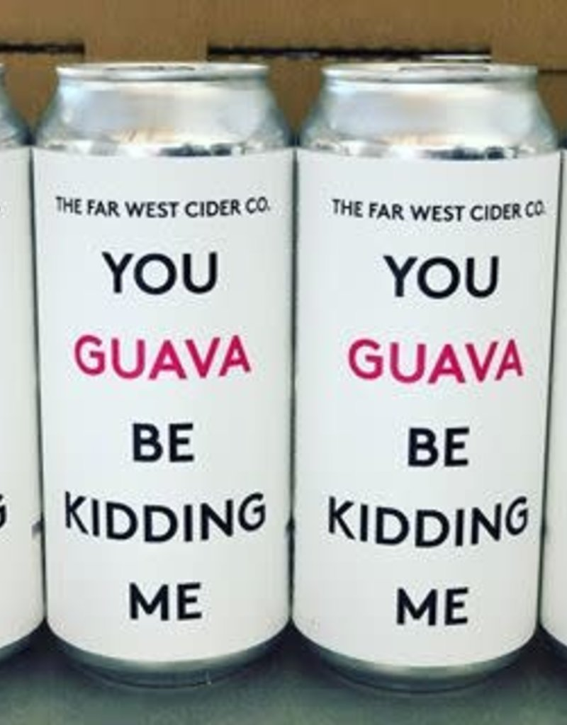 Far West Cider Co. You Guava be Kidding Me CANS Cider California 16 oz