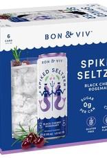 Bon & Viv Black Cherry Rosemary Spiked Seltzer 4 pack 12 oz