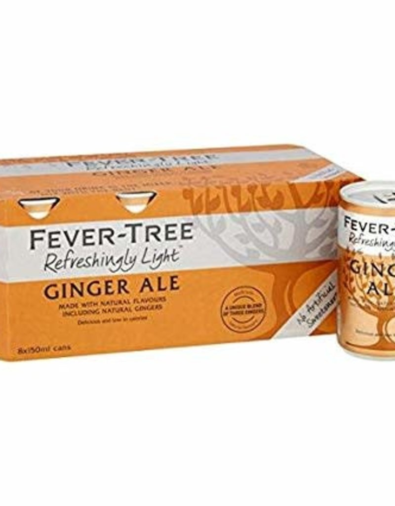 Fever Tree Fever Tree Ginger Ale  CANS 8 pack 150 ml