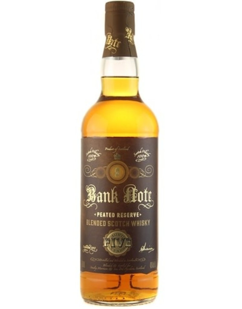 A.D. Rattray Bank Note Peated Reserve Blended Scotch  750 ml