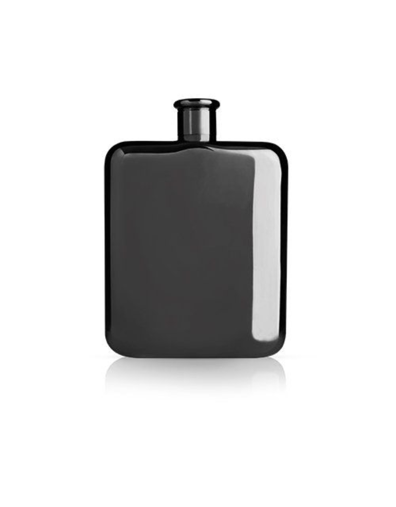 True Brands True Viski Flask Black 6 oz