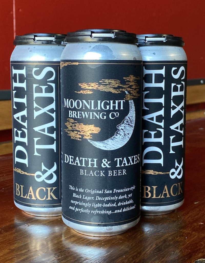 Moonlight Brewing Co. Death & Taxes Black Beer 4 pack 16 oz