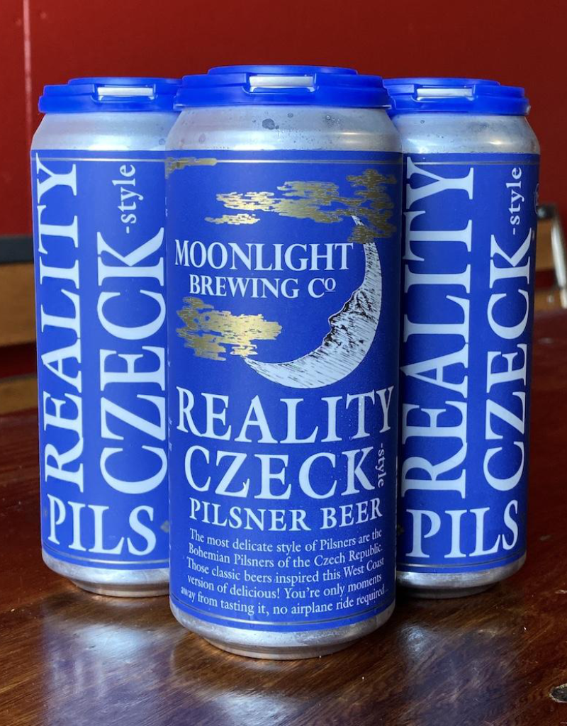 Moonlight Brewing Co. Reality Czeck Pilsner 4 pack 16 oz