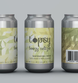 Fonta Flora Topsy Black Tea+Lemon Boozy Seltzer 6 pack 12 oz