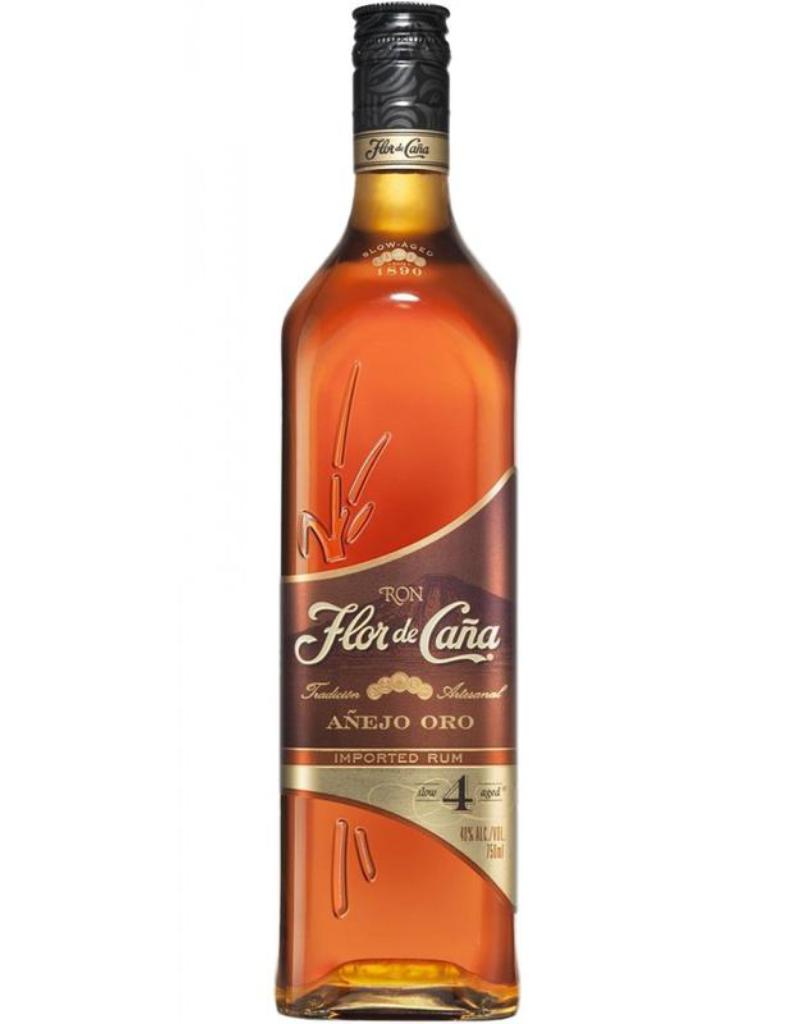 Flor de Cana Flor De Cana Rum Anejo Oro  750 ml