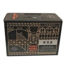 Fort Point Fort Point Beer Co. KSA Kolsch Cans  12 pack 12 oz