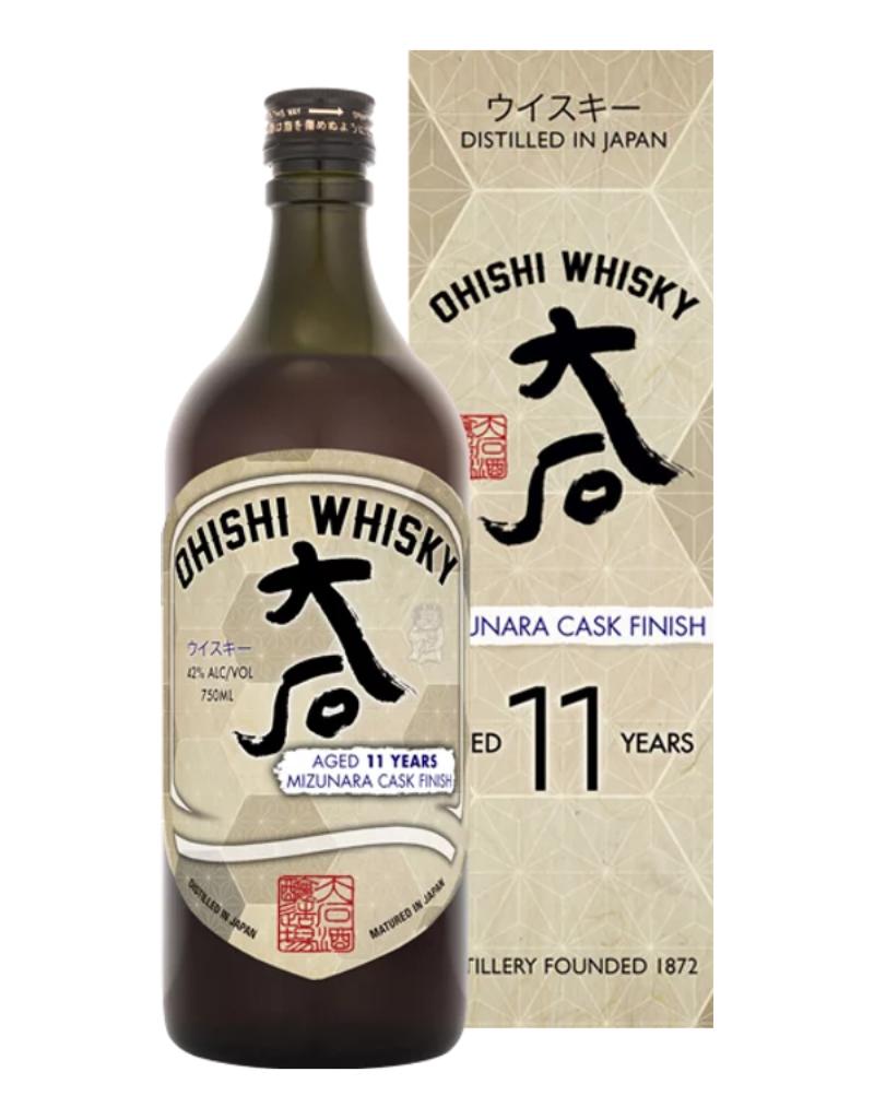 Ohishi Mizunara Cask Finished 11 year old Japanese Whisky 750 ml