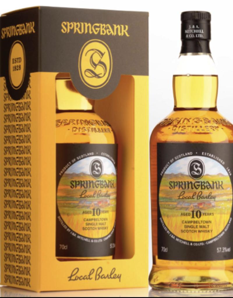 Springbank Springbank Local Barley 10 year old Campbeltown Single Malt Scotch 750 ml
