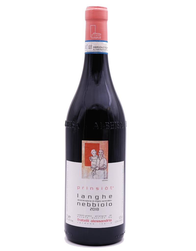 Alessandria 2018 Alessandria Prinsiot Langhe Nebbiolo  750 ml