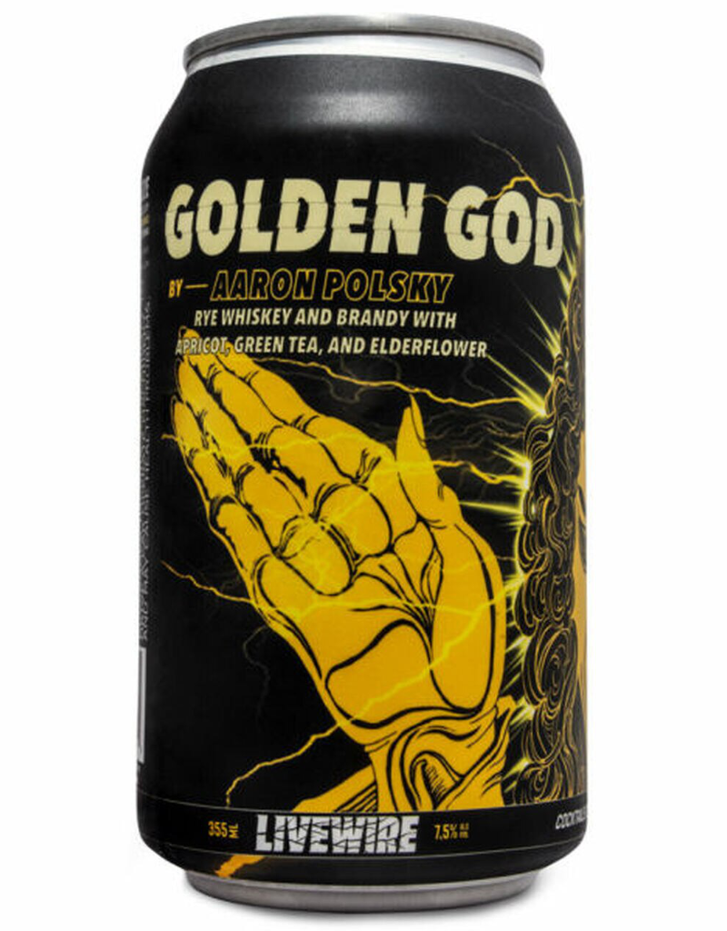 LiveWire Golden God Cocktail by Aaron Polsky CAN SINGLE  12 oz