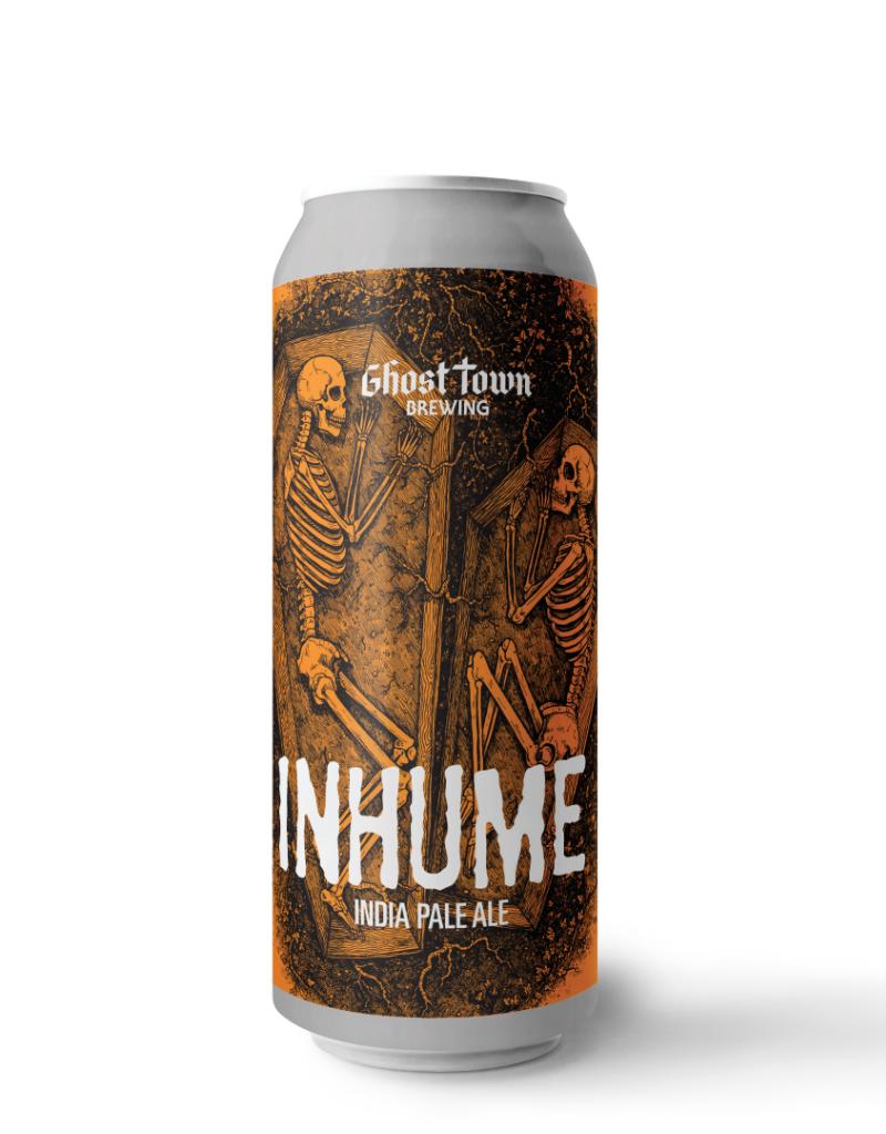 Ghost Town Brewing Inhume West Coast IPA 4 pack 16 oz