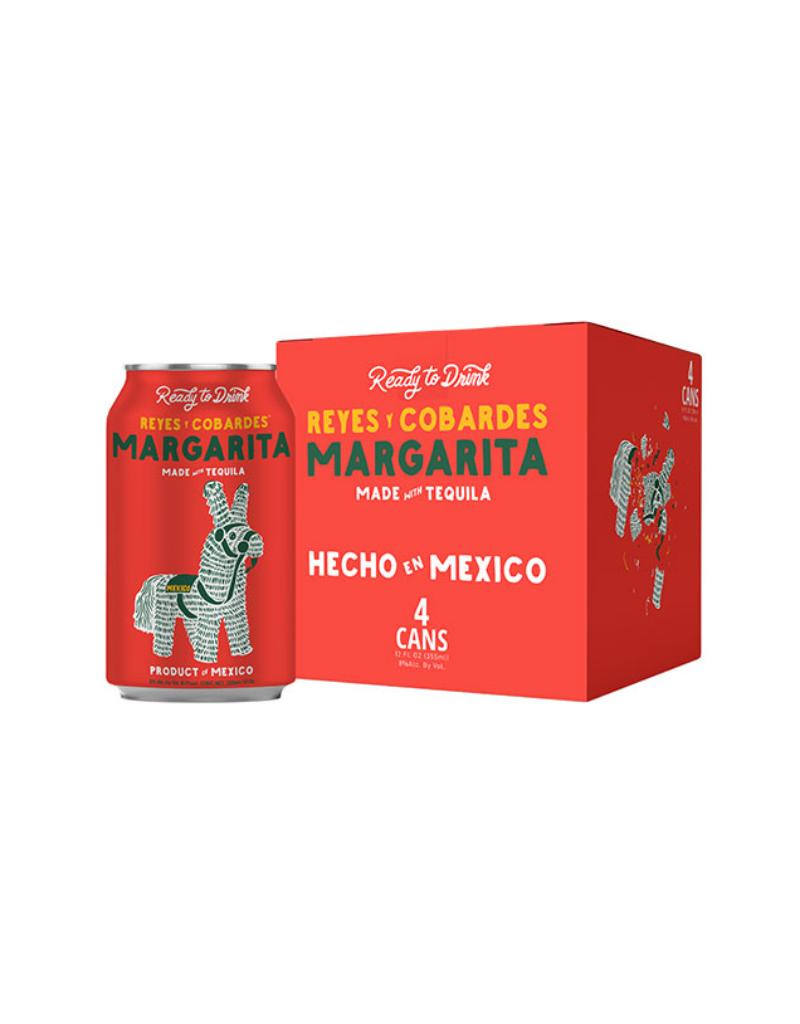 Reyes Y Cobardes Margarita  4 pack 12 oz