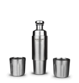 High Camp Firelight Borealis Edition Flask + 2 Tumblers 750ml
