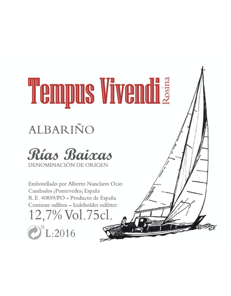 2019 Nanclares y Prieto Tempus Vivendi Albarino  Rias Baixas 750 ml