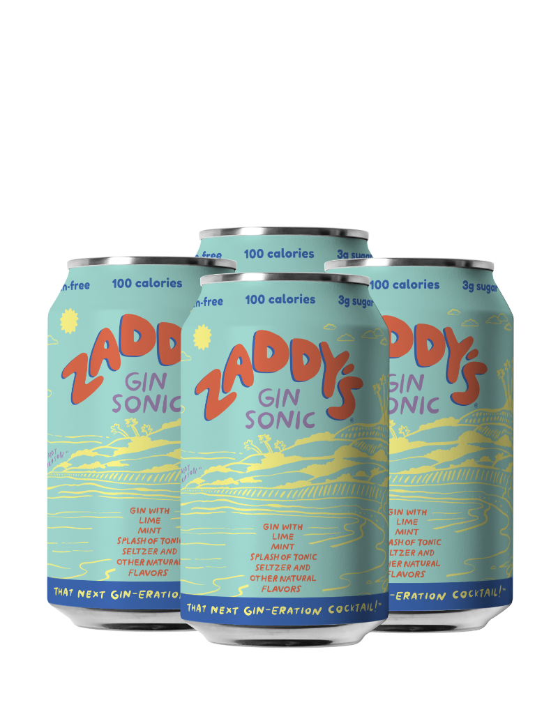Zaddy's Gin Sonic Cocktail CAN 4 pack 12 oz