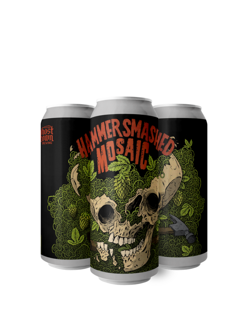 Ghost Town Brewing Hammer Smashed 100% Mosaic IPA 4 pack 16 oz
