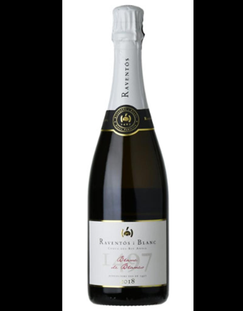 2018 Raventos i Blanc Extra Brut Blanc de Blancs Sparkling Wine 750 ml