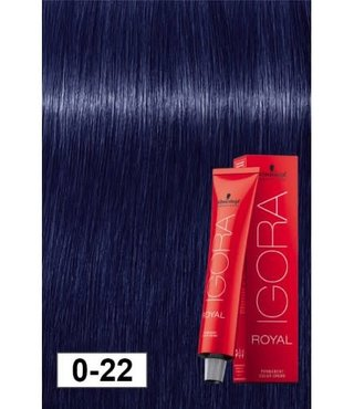 0-22 Violet Blue Concentrate 60g - Igora Royal by Schwarzkopf