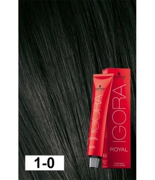 1-0 Black 60g - Igora Royal by Schwarzkopf