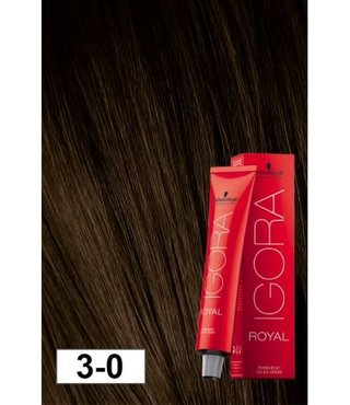 3-0 Dark Brown 60g - Igora Royal by Schwarzkopf