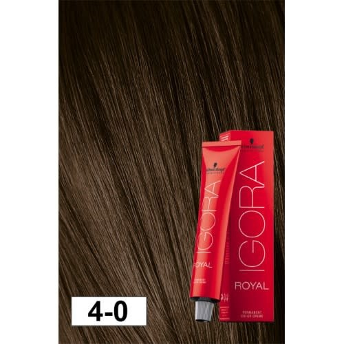 4-0 Medium Brown 60g - Igora Royal by Schwarzkopf