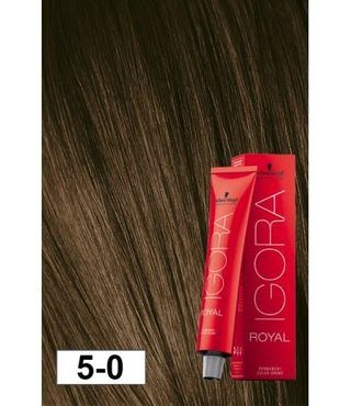 5-0 Light Brown 60g - Igora Royal by Schwarzkopf
