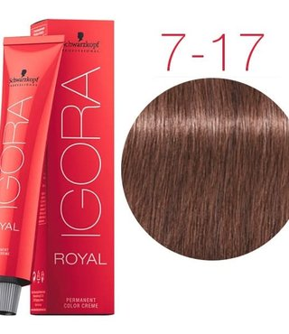 7-17 Medium Blonde Cendre Copper  60g - Igora Royal by Schwarzkopf