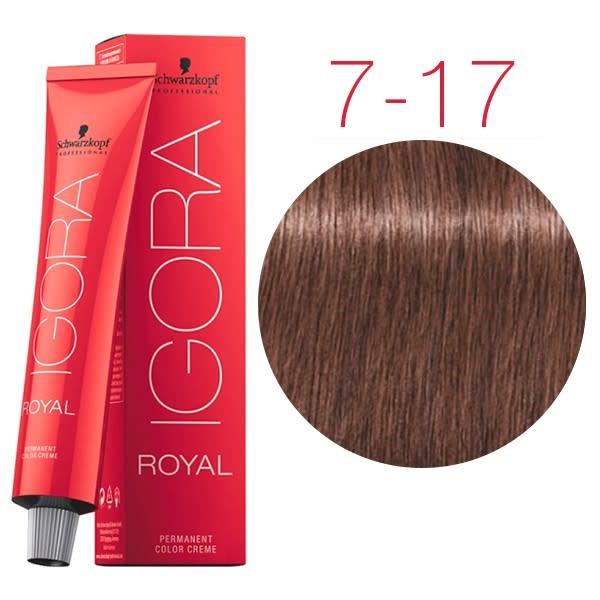 7-17 Medium Blonde Cendre Copper  60g - Igora Royal by Schwarzkopf