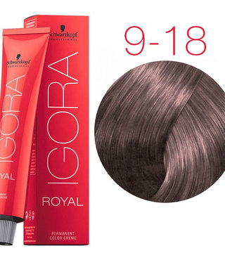 9-18 Extra Light Blonde Cendre Red 60g - Igora Royal by Schwarzkopf