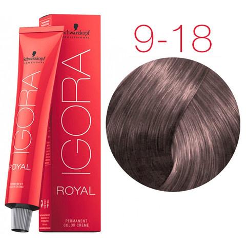 9-18 Extra Light Blonde Cendre Red 60g - Igora Royal by Schwarzkopf