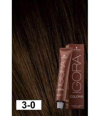 3-0 Color10 Dark Natural Brown  60g - Igora Color10 by Schwarzkopf