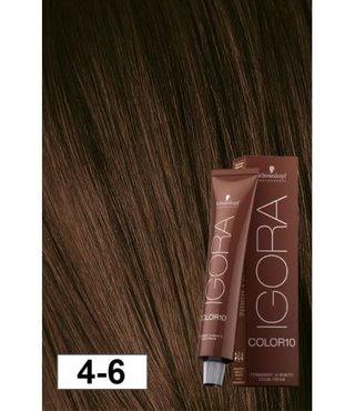 4-6 Color10 Medium Auburn Brown  60g - Igora Color10 by Schwarzkopf