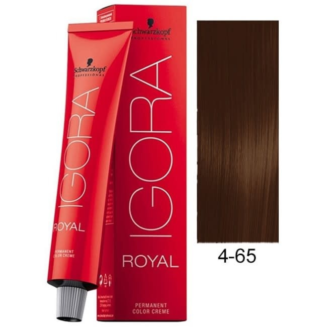 4-65 Color10 Medium Brown Auburn Gold  60g - Igora Color10 by Schwarzkopf