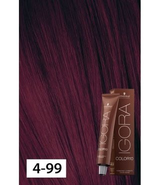 4-99 Color10 Medium Brown Violet Extra  60g - Igora Color10 by Schwarzkopf