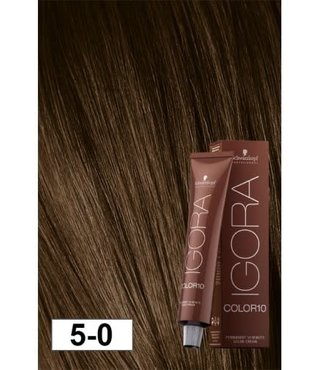5-0 Color10 Natural Light Brown  60g - Igora Color10 by Schwarzkopf