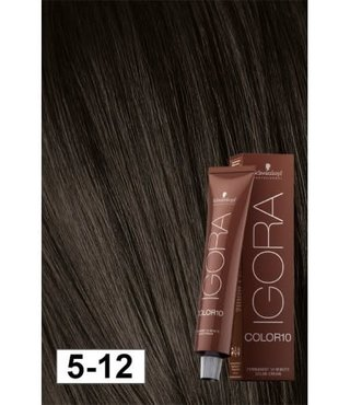5-12 Color 10 Light Ash Smokey Brown 60g - Igora Color10 by Schwarzkopf