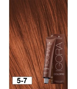 5-7 Color10 Light Copper Brown  60g - Igora Color10 by Schwarzkopf