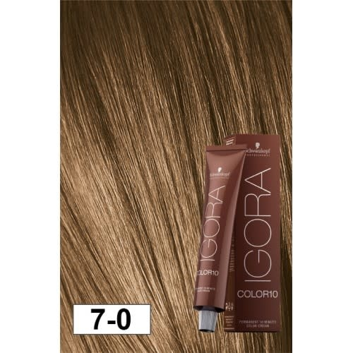7-0 Color10 Medium Natural Brown  60g - Igora Color10 by Schwarzkopf