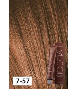 7-57 Color10 Medium Blonde Gold Copper  60g - Igora Color10 by Schwarzkopf