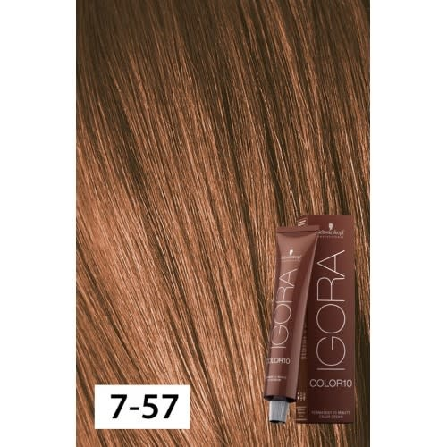 7-57 Color10 Medium Blonde Gold Copper  60g - Igora Color10 by Schwarzkopf