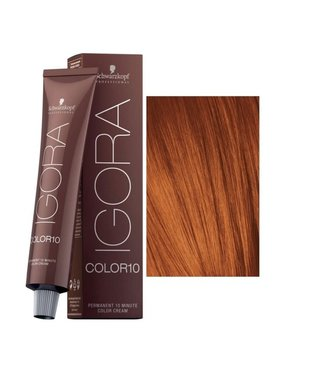 7-7 Color10 Medium Blonde Copper  60g - Igora Color10 by Schwarzkopf